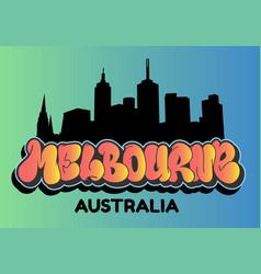 melbourne australia cityscape city skyline vector image