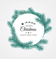 merry christmas and happy new year banner white vector image