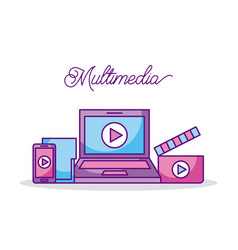 multimedia technology device video movie digital vector image