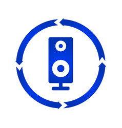 music column audio speakers turn icon vector image