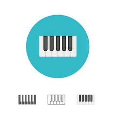 octave piano keys icon vector image
