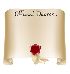 official certificate scroll vector image