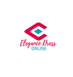 online fashion store letter e icon vector image