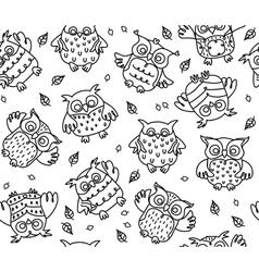 Owl seamless vector