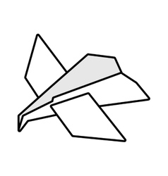 paper plane idea innovation up outline vector image