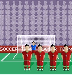 Portugal Soccer Club Penalty on a Stadium vector