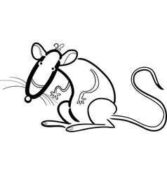 Rat cartoon character for coloring vector