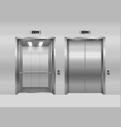 realistic 3d detailed elevator with opened and vector image