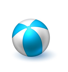 Realistic beach inflatable striped ball vector