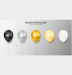 realistic black silver gold yellow and white vector image