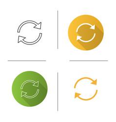 refresh arrows icon vector image
