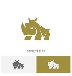 rhino logo concept rhino logo template vector image