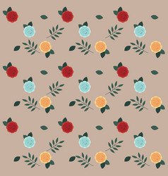 roses seamless pattern design for wallpaper vector image