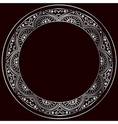 Round silver frame vector