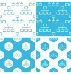 Scheme patterns set vector image