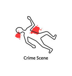 simple crime scene icon isolated on white vector image