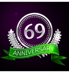 Sixty nine years anniversary celebration with vector image vector image