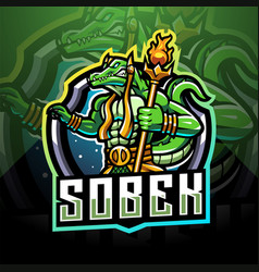 Sobek esport mascot logo design vector