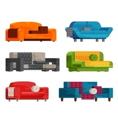 sofa set vector image