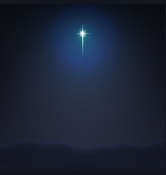 stock bethlehem star vector image