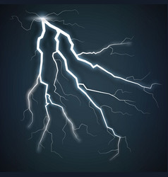 Storm with lightning isolated on transparent vector