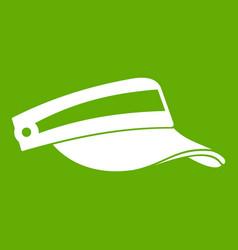 sun cap icon green vector image