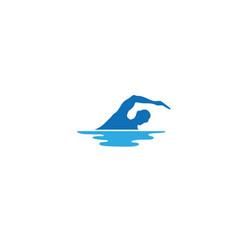 swimming triathlon logo vector image