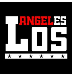 T shirt typography Los Angeles CA black vector image