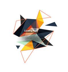 triangular design abstract background landing vector image