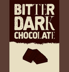 typographical vintage chocolate poster design vector image
