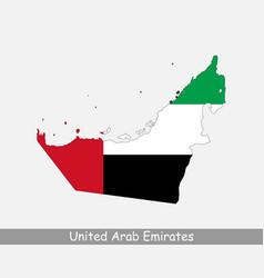 United arab emirates uae map flag vector