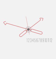 unusual stylish fashionable wall clock vector image
