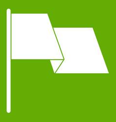 Waving flag icon green vector