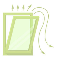 window ventilation icon cartoon style vector image
