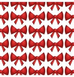 bow ribbon pattern decoration vector image