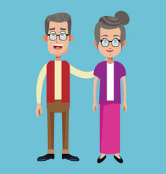 Couple grandparents family adult image vector