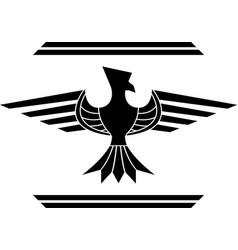 fantasy bird stencil second variant vector image vector image