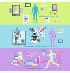 Medical technology and pharmacology research vector