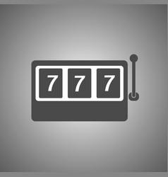 slot machine icon slot machine with three 7 vector image