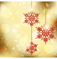 Sparkling Christmas Snowflakes vector image