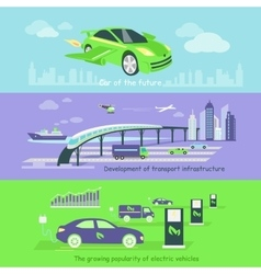 Concept of Development Transport Infrastructure vector image