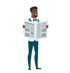 groom reading newspaper vector image