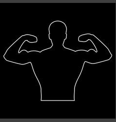 bodybuilder the white path icon vector image
