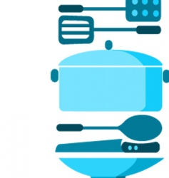 cooking utensils vector image vector image