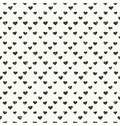 hearts pattern black vector image vector image