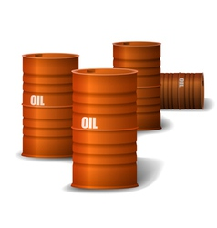 Red Oil barrel vector image vector image