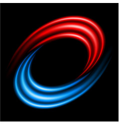 abstract swirl sign on black background vector image vector image