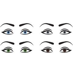 Woman eyes vector image vector image