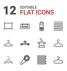 12 hanger icons vector image