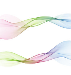 abstract web smooth spring fresh dividers lines vector image